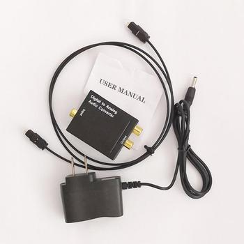 Digital Optical Coaxial Signal to Analog Audio Converter Adapter RCA Digital To Analog Audio Converter dropshipping