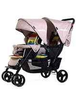 2019 New purle color baby stroller comfortable simple twins baby carriage