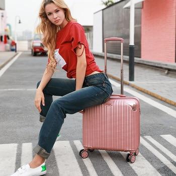 "18""20""Mini Rolling Luggage Carrier-on Boarding Suitcase trolley чемодан maletas 캐리어 شنط سفر Travel Luggage"