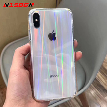 N1986N Rainbow Laser Case For iPhone X X