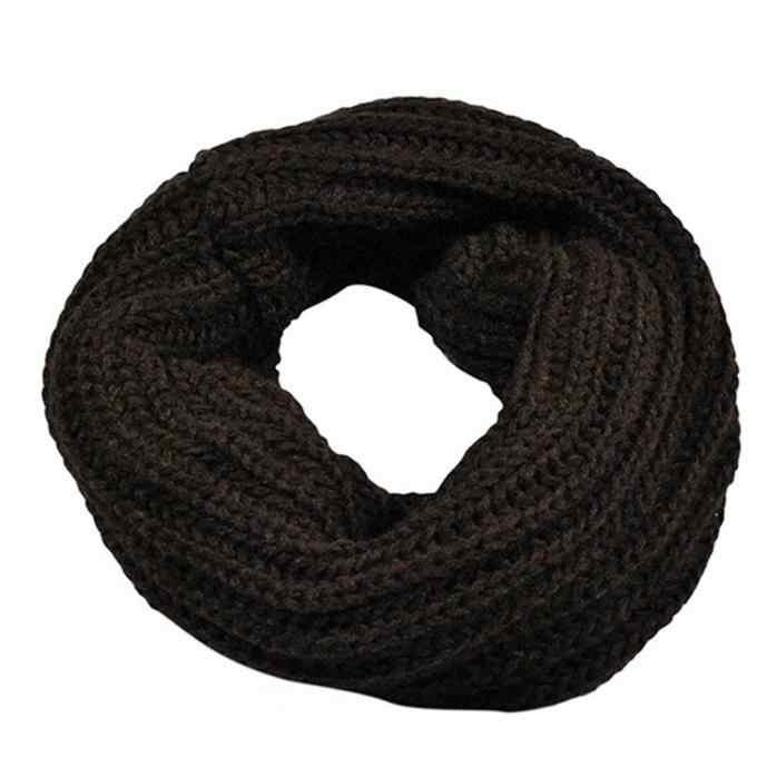2019 nuevo Otoño Invierno niño niña de punto círculo lana bufanda anillo chal Modis abrigo invierno cálido Collar desigual chal de lana