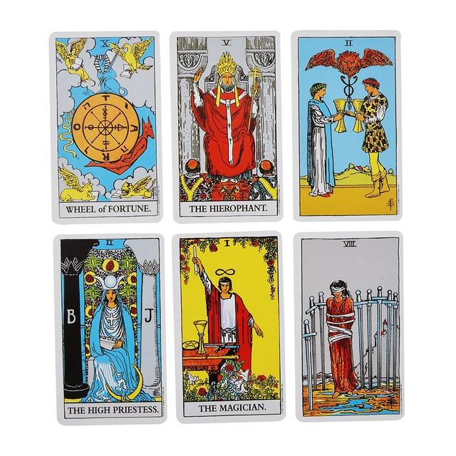 78pcs The Rider Tarot Magician Oracle Card Deck English Tarot Card Deck Guidebook Card Card Game Magical Fate Divination Card 6