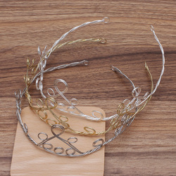 Iron Adjustable Crown Head Bands Metal Hair Band Hairwear Base Setting DIY Jewelry Handmade Making Jewelry Components Findings