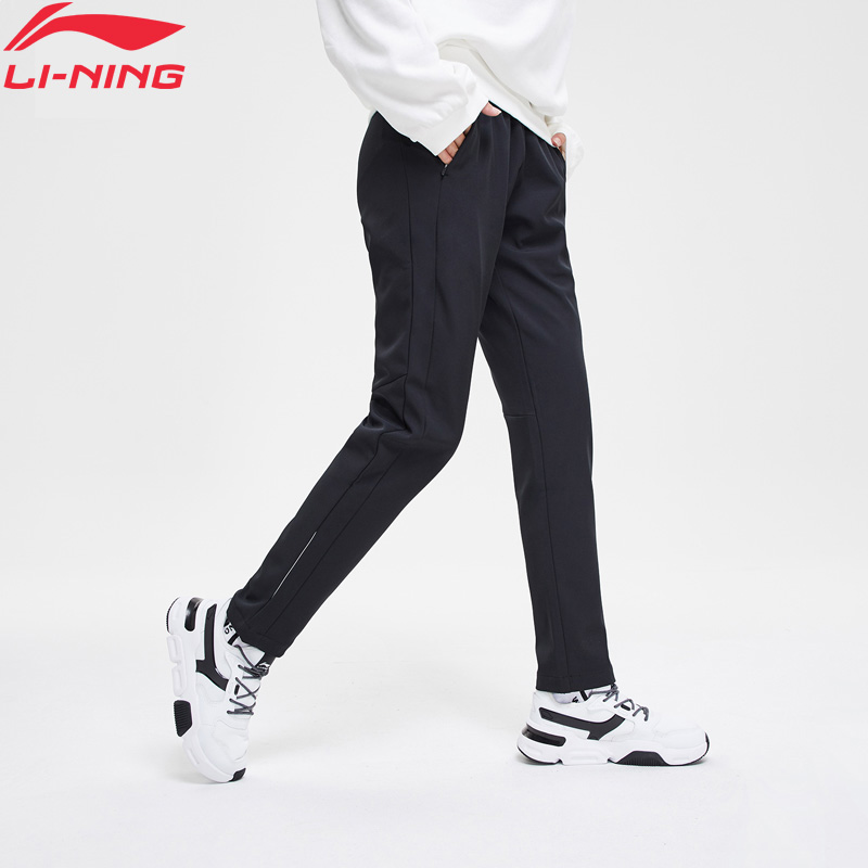 Li-Ning Women Running Sweat Pants 91.1%Polyester 8.9%Spandex Fleece WARM AT Li Ning LiNing Sports Pants Trousers AYKN144 WKY201