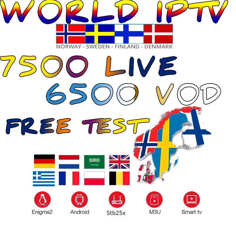 UK German Poland Romania Europe IPTV French Turkish Hungary Czech Spain Nordic HD IPTV Support Android M3U Smart TV Series VOD