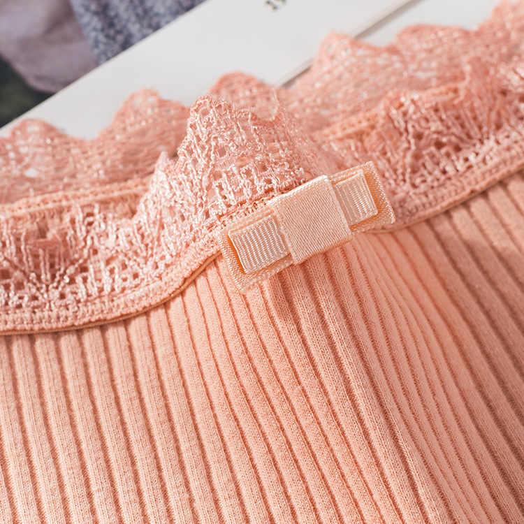 Esplosioni nuovo filo di cotone Giapponese arco biancheria intima delle donne di colore solido traspirante formato della vita delle ragazze slip più il formato delle donne