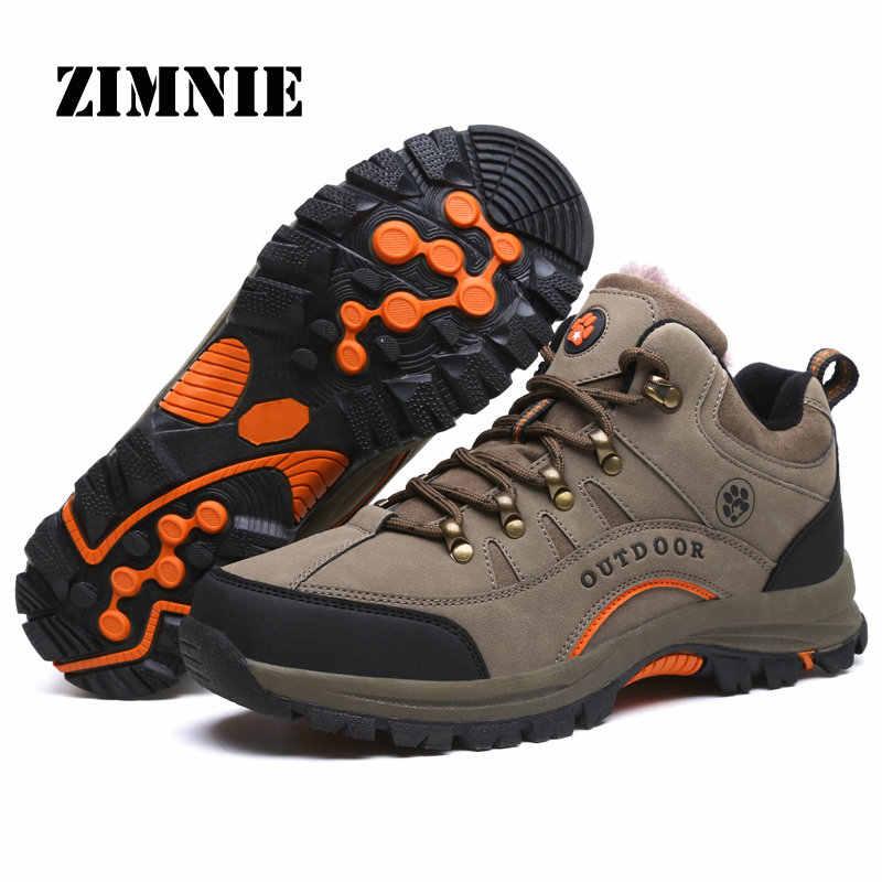 Nieuwe Collectie Winter Pro-berg Outdoor Wandelschoenen Voor Mannen Vrouw Voeg Bont Wandelschoenen Lopen Warme Training Trekking schoeisel