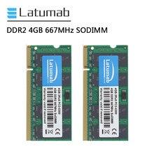 Memória 667 ram PC2-5300 pinos da memória do portátil 200 v ram ddr2 módulo da memória do caderno ddr2 de latumab ram 4gb 8gb 16gb 1.8 mhz sodimm