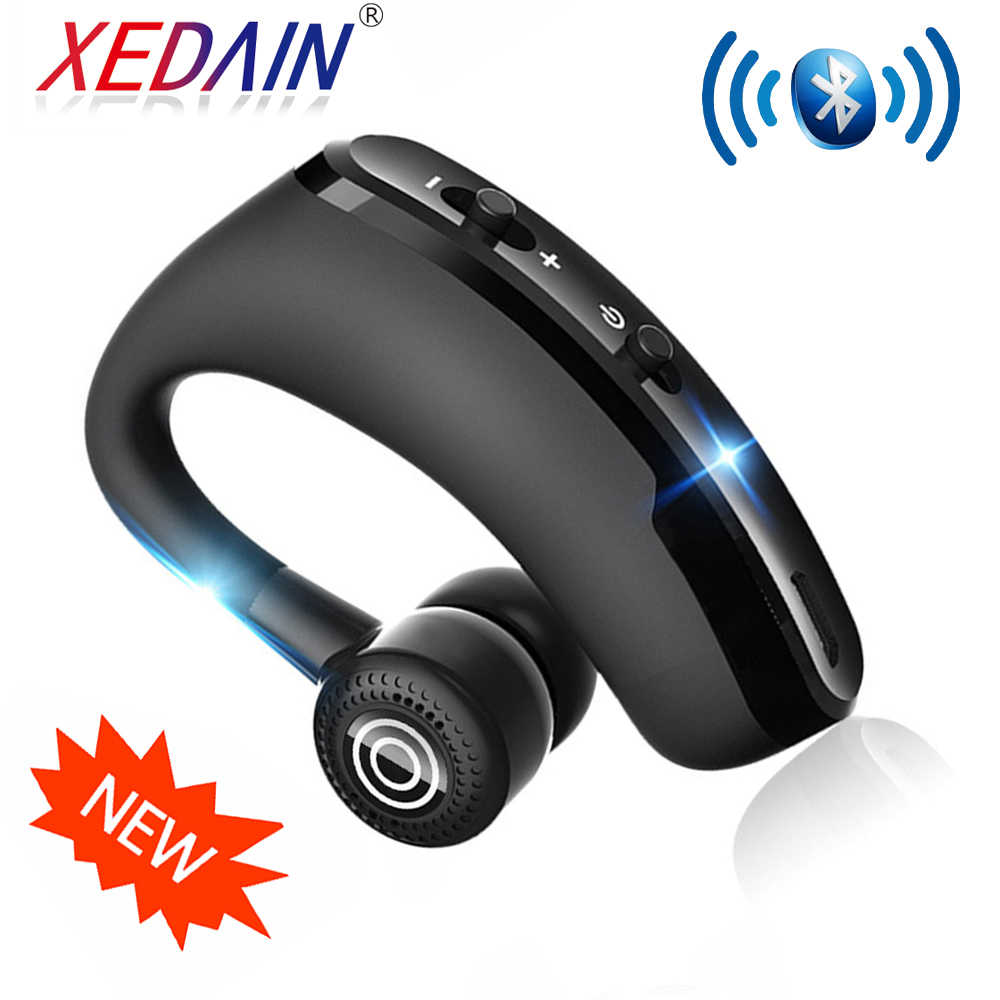 Headphone V9 Hands-Free Nirkabel Bluetooth Headset Noise Control untuk IOS Android Xiaomi Huawei iPhone Driver Gerakan Xedain