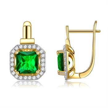 Stylish color-splitted stereoscopic earrings KZCE315 vintage earrings accesories for women earings fashion jewelry image