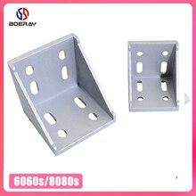 6060 8080 алюминиевые угловые кронштейны Угловой соединитель для Т-образных пазов алюминиевый профиль 6060 или 8080 серии