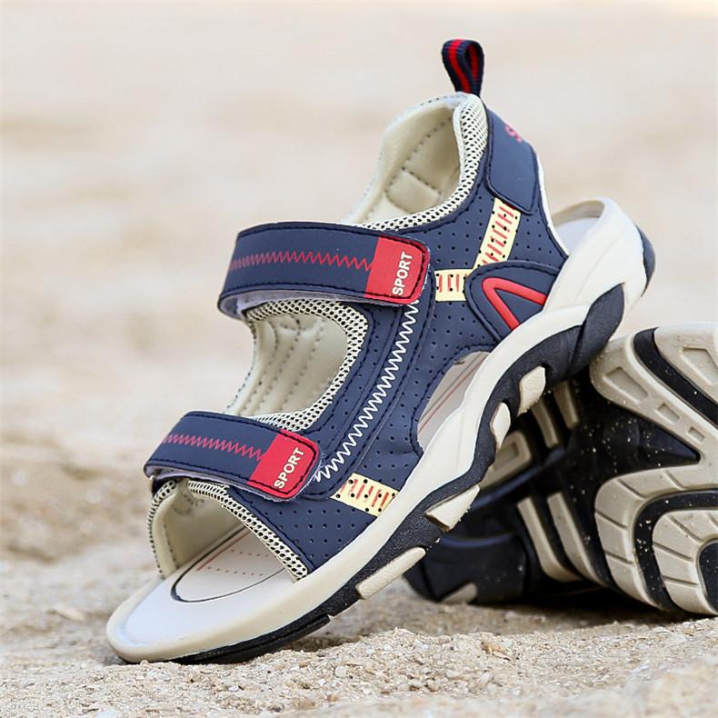 2020 Summer Boys Sandals Kid Sandals Children Shoes Cut-outs Rubber School Shoes Breathable Open Toe Casual Boy Sandal (13)