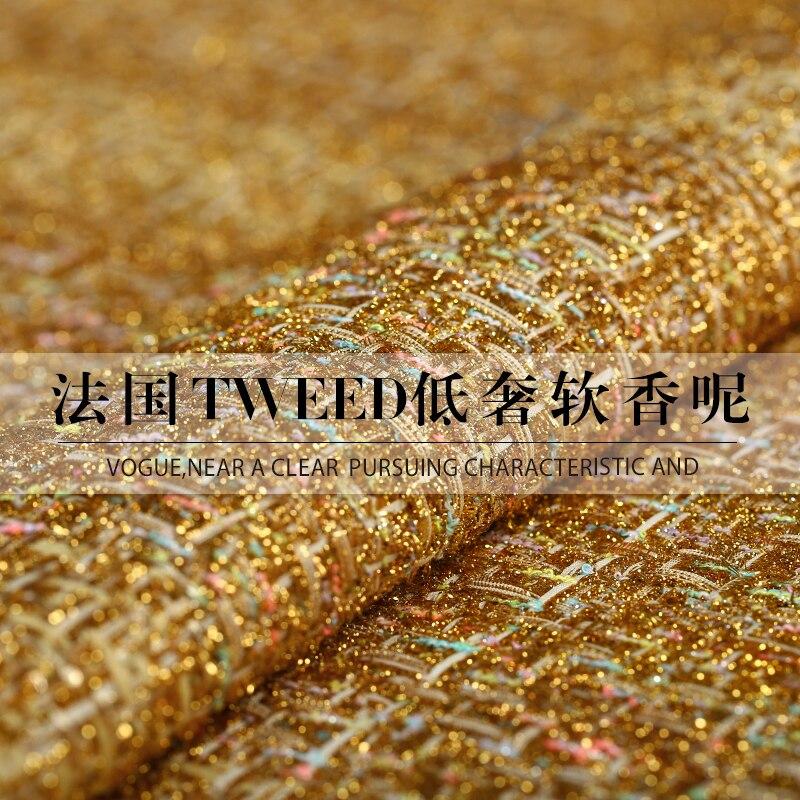 19 nouveau tissu de luxe en Nylon de Polyester de tissu de Tweed de Spriing pour des femmes habillent le tissu de mode tricoté large de 145cm pour le bricolage cousant chaud