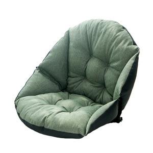 Image 5 - תלמיד פשתן ריפוד עבה חם מושב כרית המותניים משרד כרית כיסא מחשב כרית