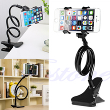 Hot Universal Lazy Bed Desktop Mount Car Stand Holder For Cell Phone Long Arm NEW