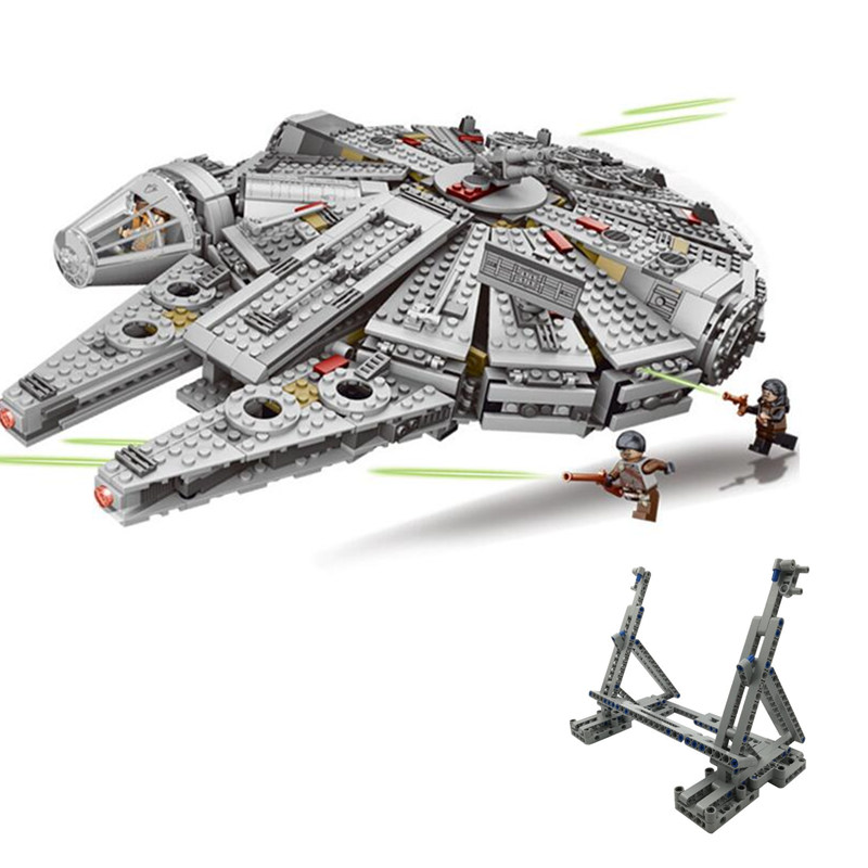 Legoinglys Starwars Star Millennium 79211 Falcon Figures Wars Building Blocks Harmless Bricks Enlighten Fit Compatible Toys