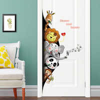 New animal wall stickers door stickers stairs bedroom walls removable home decorative stickers wall decor for home free shipping