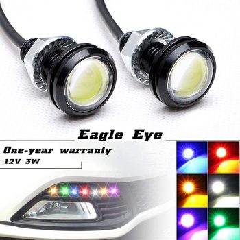 цена на 2PCS Led Drl Eagle Eye 20mm*11mm Waterproof 12V Led Car Light Led Daytime Running Lights Car Styling Auto Fog Lights Parking