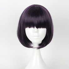 HAIRJOY Capless Short Straight BOB Light Pink Synthetic Wig Full Bang
