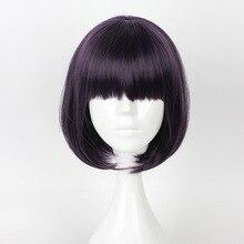 HAIRJOY Capless Short Straight BOB Light Pink Synthetic Wig Full Bang ultrashort curly capless synthetic wig