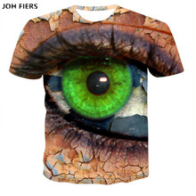 JOH FIERS2019 New Product Launch Psychedelic Eye T-Shirt Trippy Pattern Leads to an all-seeing Eye Vibrant Design Women Men Tees summer trippy t shirt