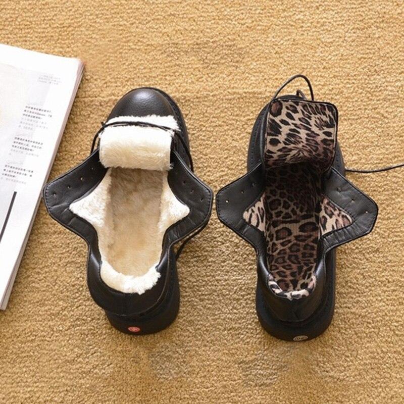 Image 2 - Новая осенне зимняя обувь; женские зимние ботинки; теплая плюшевая обувь; женская обувь на холодную зиму; Модные женские ботильоны; женские ботинки-in Полусапожки from Обувь