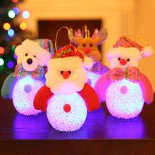 2019 Cute Doll Light Toy Santa Claus Snowman Bear Elk LED Night Light Doll Toy For Home Party Christmas Tree Ornament Decoration