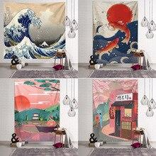 Japanese blanket big tapestry whale arowana dragon phoenix totem wall hanging bohemian bed blanket home decor tapestry wall hanging bruce lee kung fu dragon tapestry