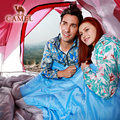 CAMEL съемный двойной спальный мешок для человека  сохраняющий тепло  водонепроницаемый  для путешествий  кемпинга  спальный мешок 220*150 см  вес...