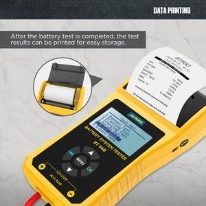 Image 4 - AUTOOL BT660 stampante per analizzatore di Tester di carico per batteria per Auto 12V CCA Auto a gomito ricarica Volt Test strumento diagnostico per veicoli digitale