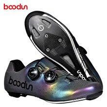 Chaussures de vélo de route ultralégères, avec semelle en Fiber de carbone, pour hommes, pour vélo de route, chaussures dathlétisme, pour course