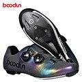 Ultraleicht Self Locking männer Radfahren Rennrad Schuhe mit Carbon Fiber Sole Rennrad Schuhe Fahrrad Racing Athletisch straße Schuhe-in Fahrradschuhe aus Sport und Unterhaltung bei