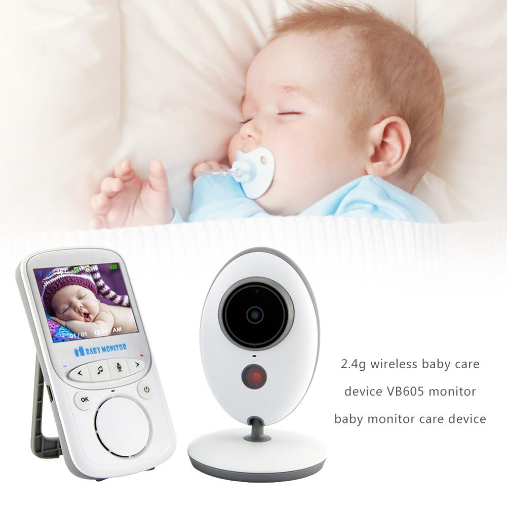 2.4 G Wireless Baby Care Device Video Monitor With Night Vision Camera Two Way Audio System Temperature Sensor Caregiver