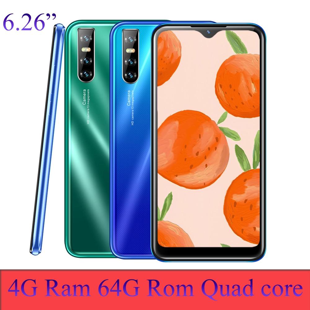 A90 Pro телефонов celulares в виде капли воды, смартфонов на базе android quad core 4G Оперативная память 64G Встроенная память 6,26 дюймов 13MP Face id разблокирован...