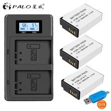 цена на PALO 2Pc LPE17 LP E17 LP-E17 Battery+LCD USB Dual Charger for Canon EOS 200D M3 M6 750D 760D T6i T6s 800D 8000D Kiss X8i Cameras