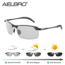 AIELBRO 12 Styles Photochromic Polarized Sunglasses Men Discoloration Eyewear Anti Glare UV400 Glasses Driving Goggles Oculos