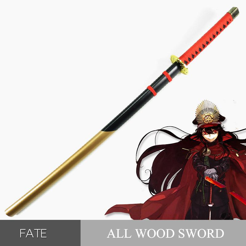Wooden Sword Knife Weapons Fate Grand Order Oda Nobunaga Cosplay Anime Nihontou Samurai Sword Wood Ninja Katana Toys For Teens