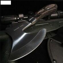 Knife Axe Inchesshort-Handle Outdoor-Adventure Stainless-Steel Durable Sharp Bone-Cutter