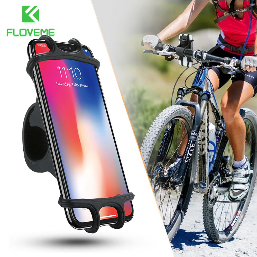 FLOVEME Bicycle Phone Holder For IPhone Samsung Universal Mobile Cell Phone Holder Bike Handlebar Clip Stand GPS Mount Bracket