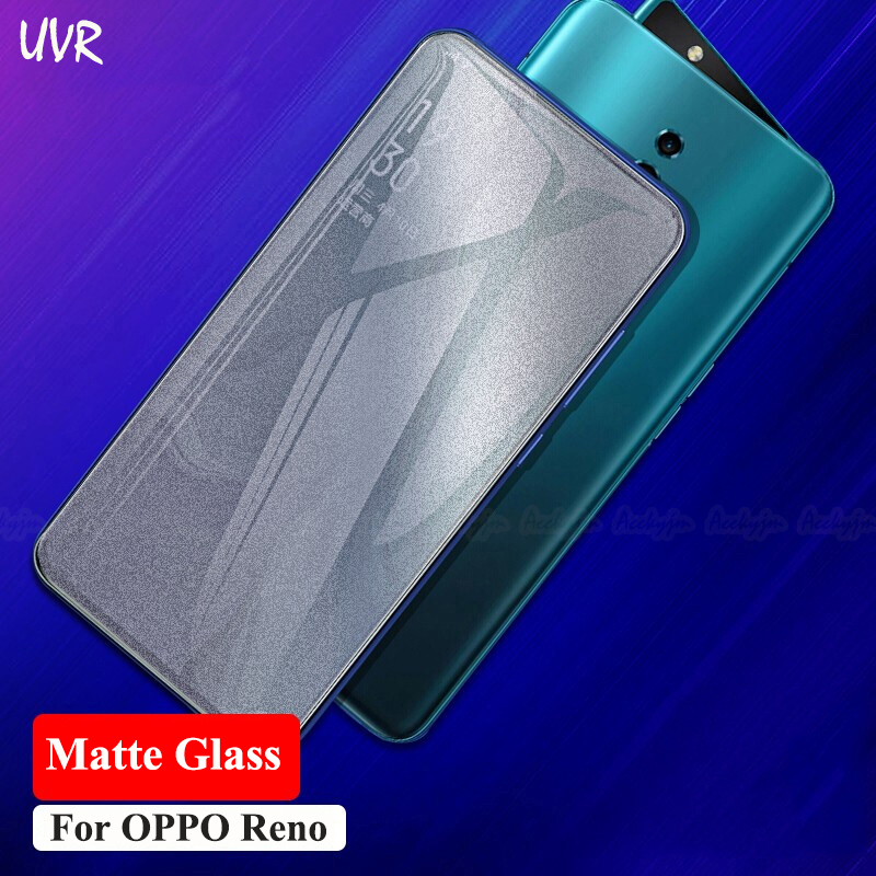 UVR Matte Glass For OPPO Reno 2/Reno 10X Zoom Frosted Tempered Glass Reno2 Reno 10X Zoom Anti No Fingerprint Screen Protector