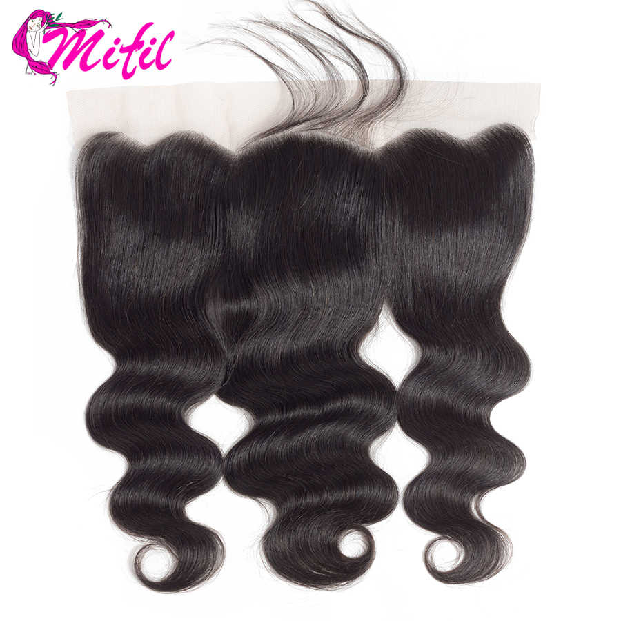 Mifil Hair Indian Body Wave Frontal Closure With Baby Hair 100% Remy Human Hair 13x4 Ear To Ear Lace Frontal Closure