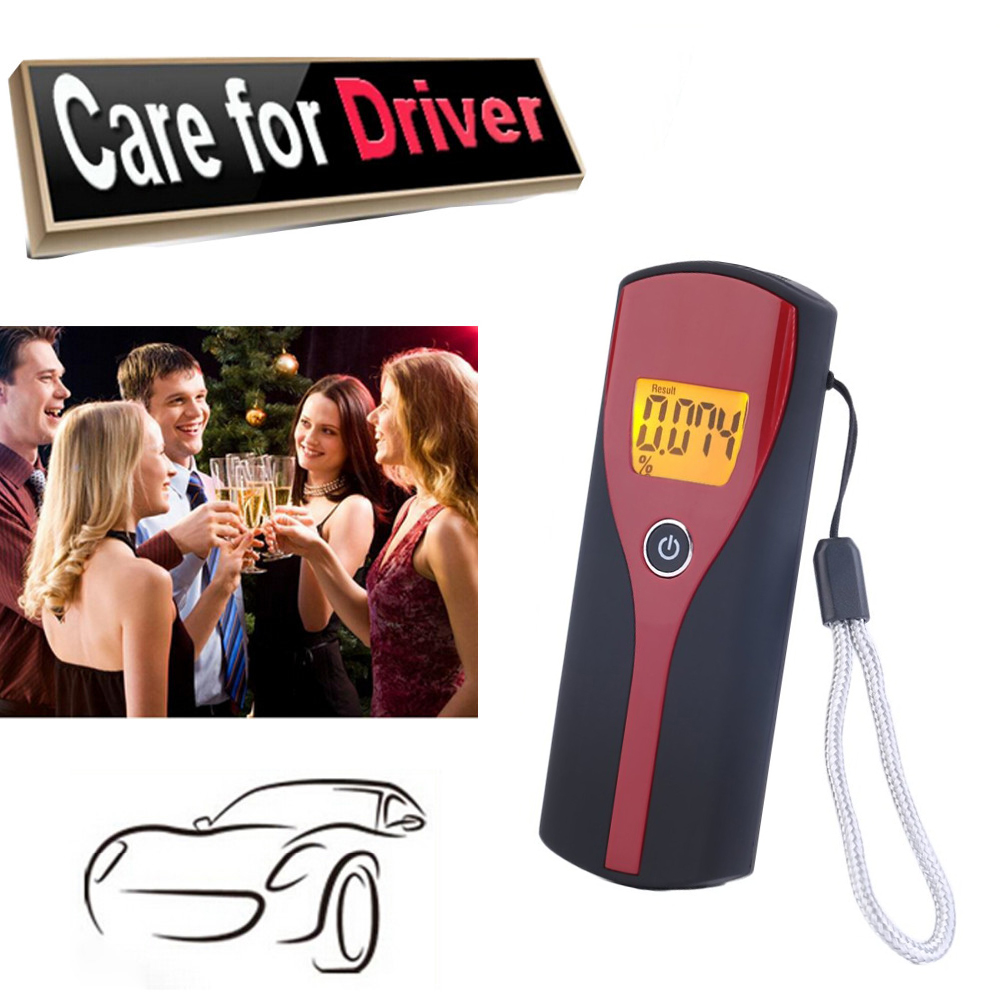 Digital Alcohol Breath Alert Breath Tester LCD Display With Audible Alert Quick Response The Breathalyzer Parking Breathalyser