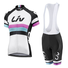 2019 new LIV Pro Cycling Jersey set woman  MTB Bike Clothes Summer Bicycle Clothing Set