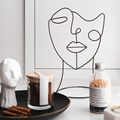 Home Art Decoration Abstract Character Sculpture Art Decor Nordic Metal Black Lines Handmade Figurines Home Decoration Art Gift