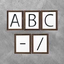 12 см плавающий номер дома буква A B C имя табличка двери Алфавит буквы тире слэш знак 5 дюймов. Цинковый сплав черный