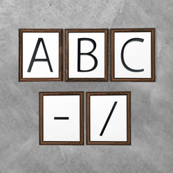 12cm Floating House Number Letter A B C Name Plate Door Alphabet Letters Dash Slash Sign 5 Inch.Zinc Alloy Black
