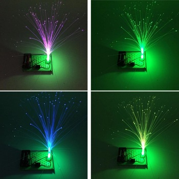 DIY color fiber optic lamp technology production experiment invention scientific teaching aid puzzle assembly toy hawkeye shooters optic aid