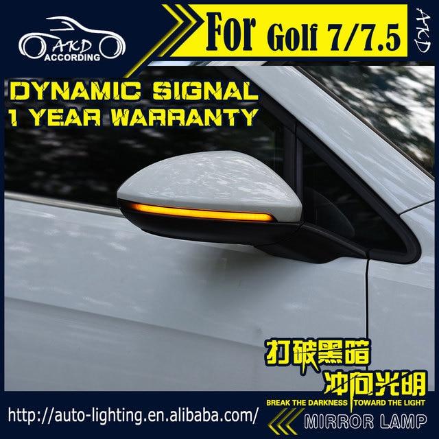 تصفيف السيارة بدوره مصباح إشارة لشركة فولكس فاجن جولف 7 جولف 7.5 led مرآة خلفية مؤشر ديناميكية مصباح جيد الإضاءة Led فلاش عدة موقف أضواء