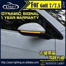 Kiểu Dáng Xe Biến Tín Hiệu Đèn Cho VW Golf 7 Golf 7.5 Đèn LED Phía Sau Gương Chỉ Thị Năng Động Chạy Đèn LED Flash bộ Vị Trí Đèn