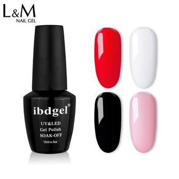 60pcs/lot ibdgel black bottle hot selling 628 gorgeous colors Gel Nail Polish DHL free shipping nail gel polish